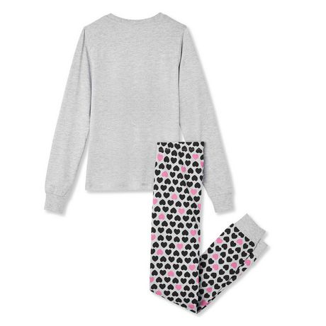 George Girls' 2-Piece Cotton PJ Set - image 2 of 2