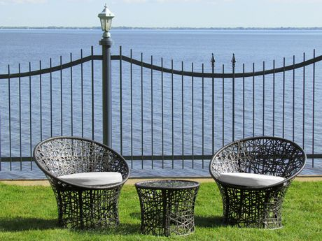Henryka 3 Piece Bistro Set With Cushions - image 1 of 4