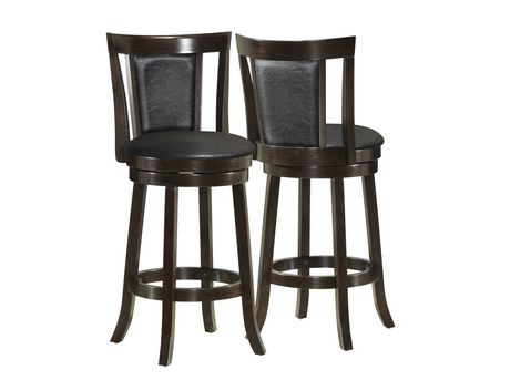 Monarch Black Cappuccino Wood 39 Quot H Swivel Counter Stool