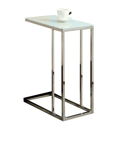 monarch specialties chrome metal accent table. Black Bedroom Furniture Sets. Home Design Ideas