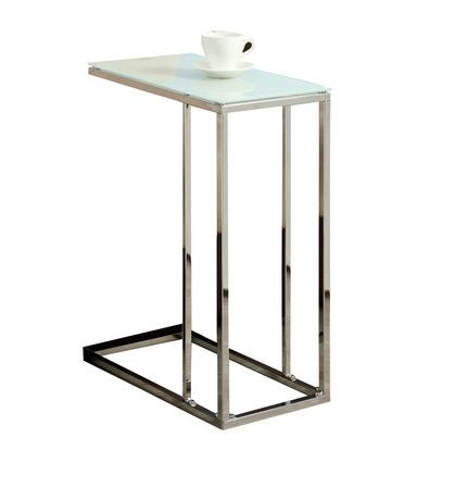 Table d 39 appoint monarch specialties en m tal chrom for Table d appoint ordinateur