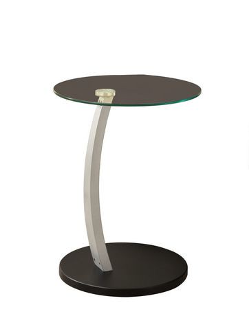 table d 39 appoint monarch specialties en noir argent walmart canada. Black Bedroom Furniture Sets. Home Design Ideas
