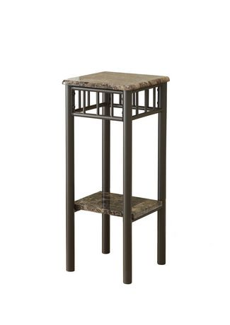 monarch specialties cappuccino marble bronze metal accent table walmart canada. Black Bedroom Furniture Sets. Home Design Ideas