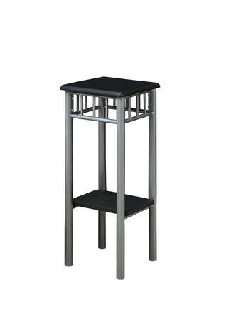 table d 39 appoint monarch specialties en noir m tal argent walmart canada. Black Bedroom Furniture Sets. Home Design Ideas