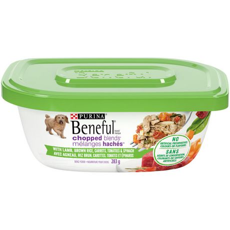 Beneful Chopped Blends Wet Dog Food, Lamb, Brown Rice, Carrots, Tomatoes & Spinach - image 1 of 5