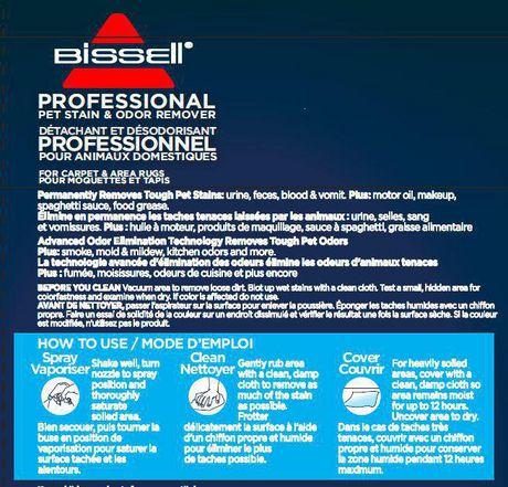 Nettoyant professional à l'action enzymatique BISSELL pour elminez les taches et les odeurs des animaux domestiques, 650mL - image 2 de 3