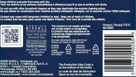 Nettoyant professional à l'action enzymatique BISSELL pour elminez les taches et les odeurs des animaux domestiques, 650mL - image 3 de 3