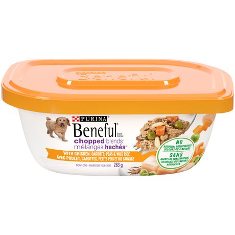 Beneful Chopped Blends Wet Dog Food, Chicken, Carrots, Peas & Wild Rice - image 1 of 5