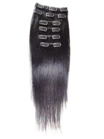 Extensions de cheveux humains à fixer Fashion Hair de style raide - image 1 de 6
