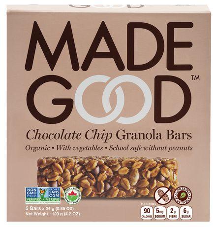 Made Good Organic Chocolate Chip Granola Bars - image 1 of 2
