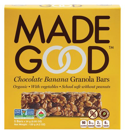 Made Good Organic Chocolate Banana Granola Bars - image 1 of 3