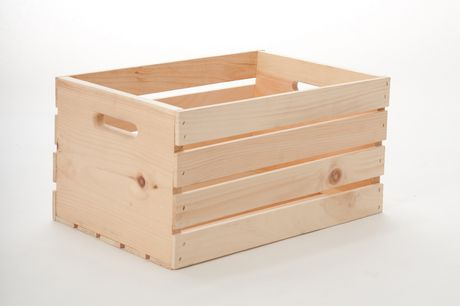 Shelve it 18 wood crate walmart canada for Small wine crates