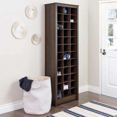 Prepac Space-Saving Espresso Shoe Storage Cabinet - image 3 of 5