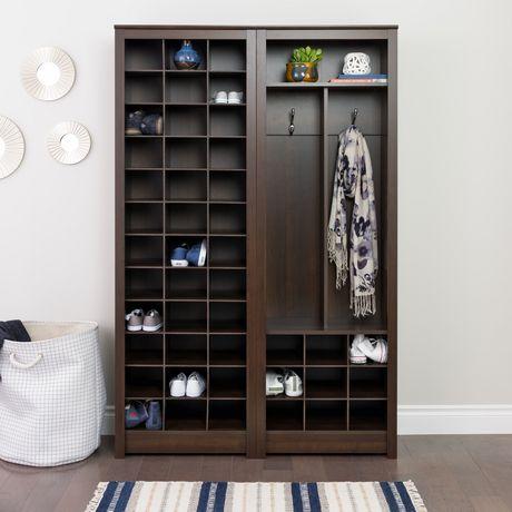 Prepac Space-Saving Espresso Shoe Storage Cabinet - image 5 of 5