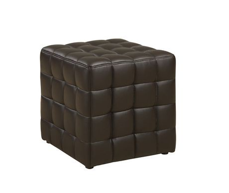 monarch pouf simili cuir walmart canada. Black Bedroom Furniture Sets. Home Design Ideas