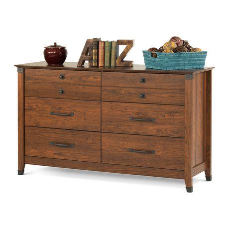 Commode double à 6 tiroirs Redmond de Child Craft, Cerisier carrosse - image 1 de 3