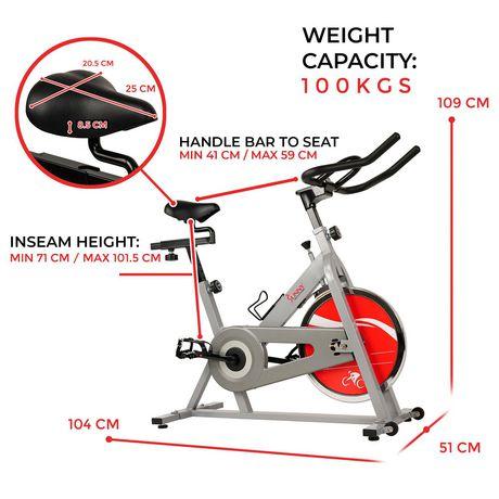 Vélo de cyclisme d'intérieur SF-B1001S de Sunny Health & Fitness - image 5 de 9