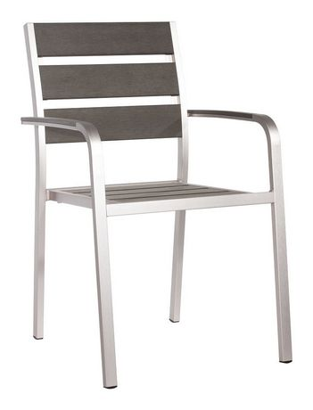Zuo Modern Outdoor 2 Piece Faux Wood Brushed Aluminum Township Dining Arm  Chair | Walmart Canada Part 62