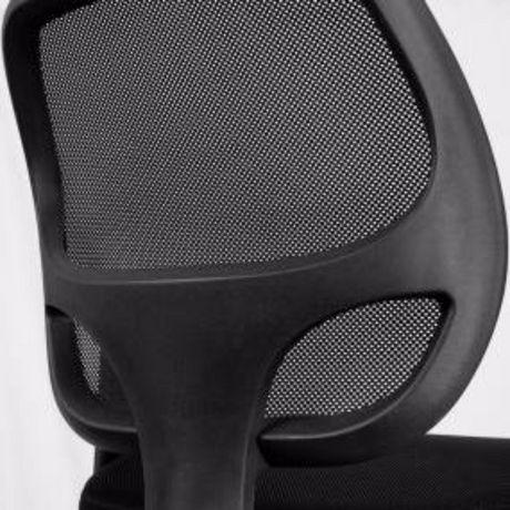 Chaise de bureau avec accoudoir Nicer Furniture à dossier moyen en maille noire - image 5 de 5