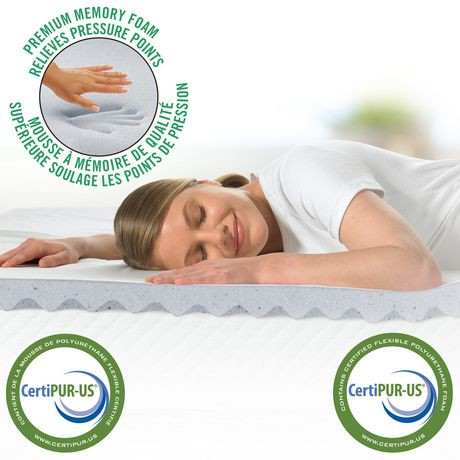 Homedics 2 Quot Cool Wave Memory Foam Mattress Topper Walmart