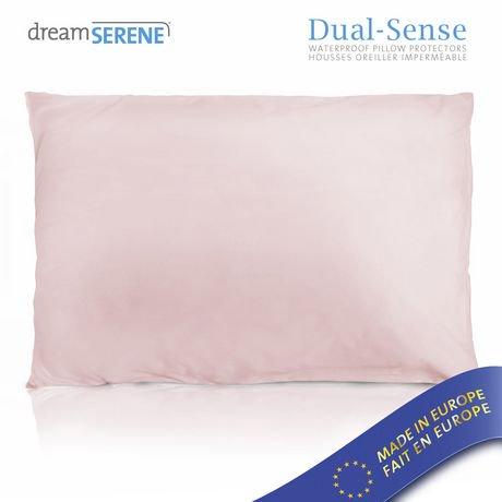 ens de drap housse imperm able hypoallerg nique et respirable dreamserene dualsense walmart. Black Bedroom Furniture Sets. Home Design Ideas