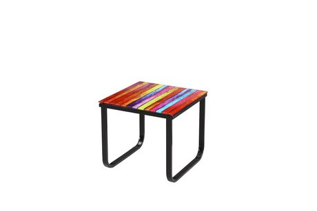 Topline Home Furnishings Rainbow Pattern End Table - image 1 of 2
