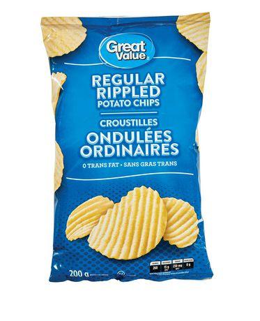 Great Value Regular Rippled Potato Chips - image 1 of 2