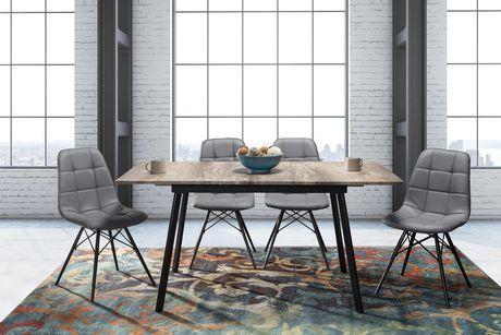 Topline Home Furnishings Grey Cushion Side Chairs - image 2 of 2