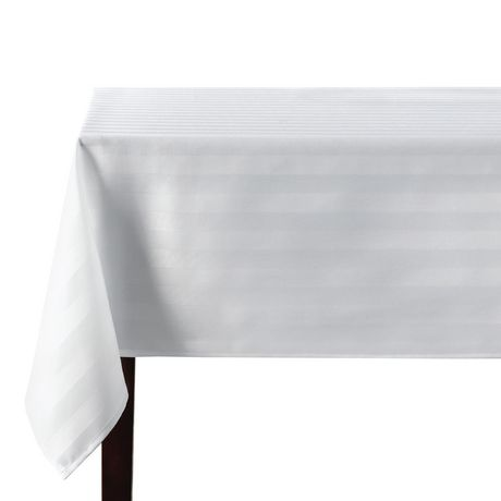 Fantastic Hometrends Microfiber Stripe Tablecloth Beutiful Home Inspiration Xortanetmahrainfo