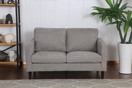 Topline Home Furnishings Grey Pillow Back Love Seat - image 2 of 3
