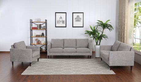 Topline Home Furnishings Grey Pillow Back Love Seat - image 3 of 3