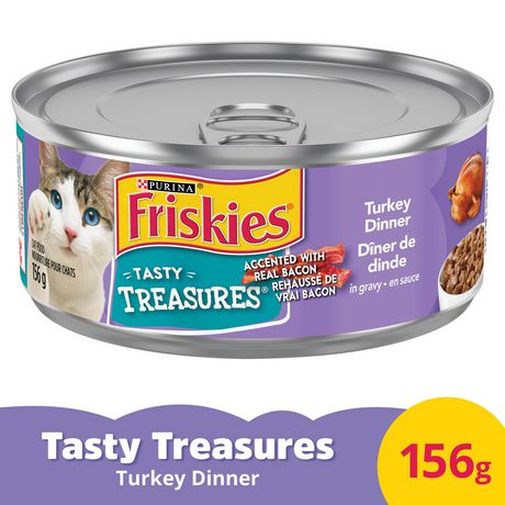 Friskies Tasty Treasures Wet Cat Food; Turkey Dinner in Gravy - image 1 of 3