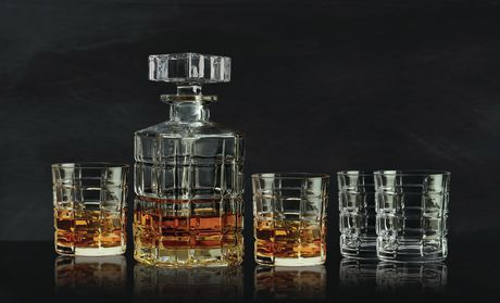 Williams Lead Free Crystal 5 Piece Whisky Set Whisky