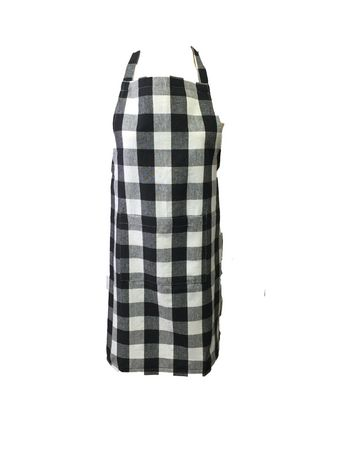 Black and white checked country apron