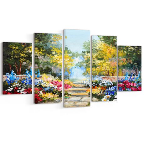 36053fa9bb Design Art Summer Forest with Flowers Multipanel Landscape Large Metal Wall  Art - image 1 of ...