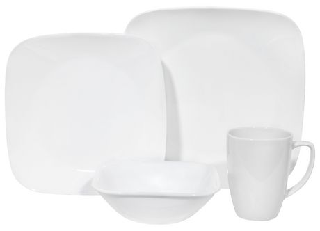 sc 1 st  Walmart Canada & Corelle® Pure White Dinnerware Set 16pc   Walmart Canada
