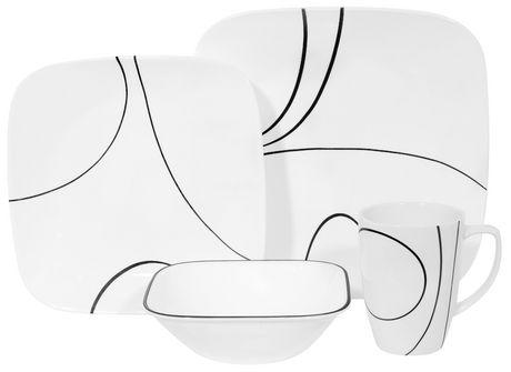 corelle simple lines dinnerware set 16pc walmart canada