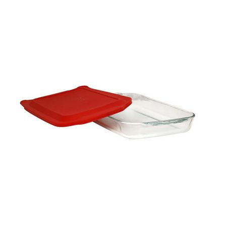 Pyrex®  Basics™ 4 Qt Oblong Glass Bakeware with Plastic Lid - image 1 of 1