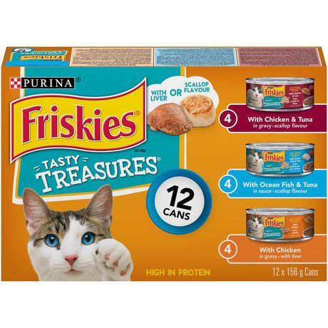 Friskies Tasty Treasures with Cheese Wet Cat Food Variety Pack - image 1 of 4
