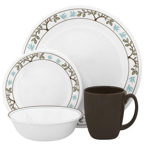 sc 1 st  Walmart Canada & Corelle® Tree Bird Dinnerware Set 16pc | Walmart Canada