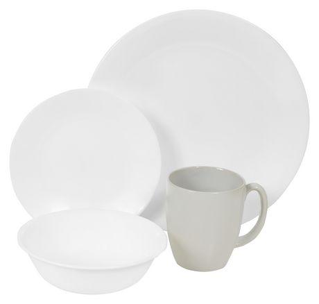 sc 1 st  Walmart Canada & Corelle® Winter Frost White Dinnerware Set 16pc | Walmart Canada