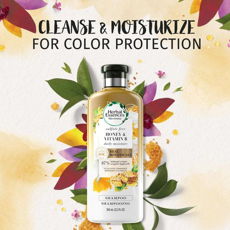 Shampooing hydratant sans sulfate Herbal Essence Bio:Renew Honey & Vitamin B - image 6 de 8