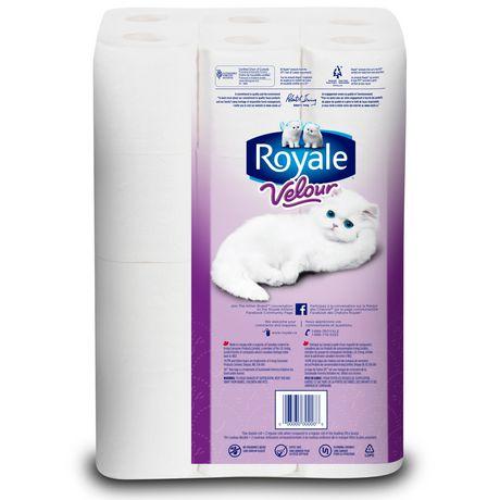 royale velour 2 ply bathroom tissue walmartca