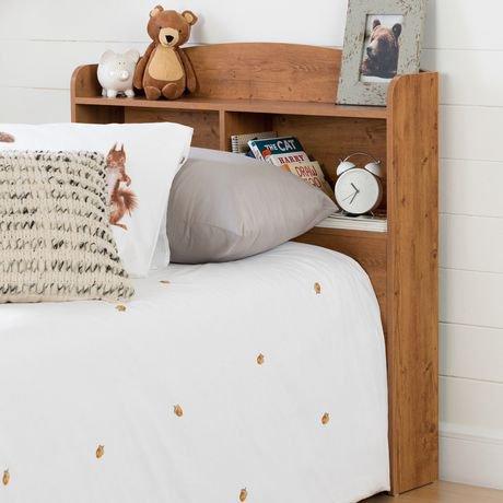t te de lit biblioth que simple 39 39 39 logik pin country de meubles south shore walmart canada. Black Bedroom Furniture Sets. Home Design Ideas