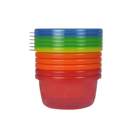 Learning Curve Canada Ltd The First Years Take & Toss 8 Oz Bowls with Lids - 6 Pack, Colours May Vary - image 1 of 1