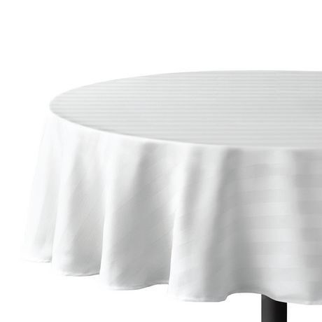 Hometrends Round Microfiber Stripe Tablecloth Walmart Canada