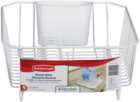 Superbe Rubbermaid Twin Sink Dish Drainer (White)