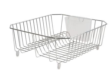 Rubbermaid Twin Sink Dish Drainer (Chrome)