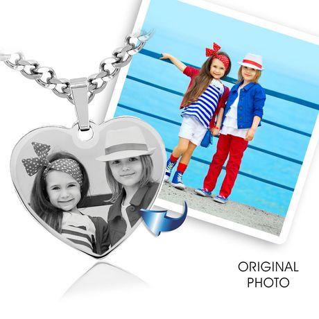 PhotosEngraved - Personnaliser! Gravez votre photo sur un pendentif cœur en argent sterling - SHSL - image 5 de 5