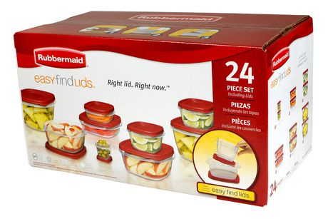 Rubbermaid Easy Find Lids 24 Piece Set Walmart Canada